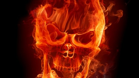 firey skull